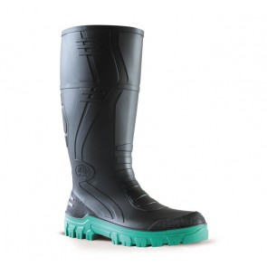 Bata Jobmaster 3 Black Green Gumboot - Non Safety