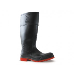 Bata Utility Gumboot - Steel Toe Cap Black/Red