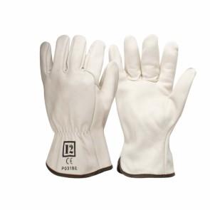 Beige Cowhide Rigger Glove - Cut 2