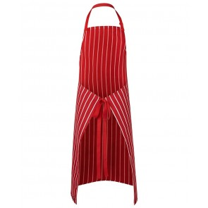 JBs wear BIB Striped Apron with Pocket