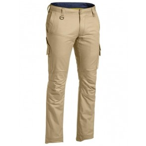Bisley X Airflow Ripstop Engineered Cargo Work Pant - Khaki Front