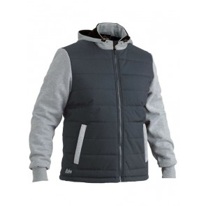 Bisley Flex & Move Contrast Puffer Fleece Hoodie