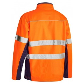 Bisley Hi Vis Soft Shell Jacket with Reflective Tape