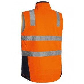 Bisley Hi Vis Soft Shell Vest with Reflective Tape