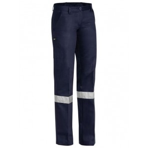 Bisley HV Womens Drill Pant Navy - Front