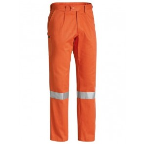 Bisley Men's 3M Taped Original Work Pant - Orange Front