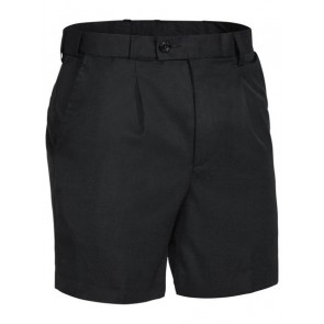 Bisley Mens Permanent Press Short - Black Front