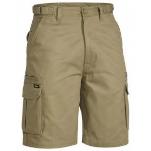 Bisley Original 8 Pocket Mens Cargo Short - Khaki Front