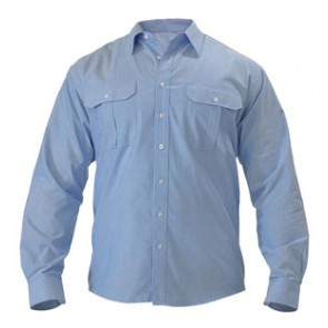 Bisley Oxford Shirt - Long Sleeve - Blue