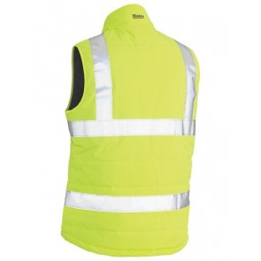 Bisley Hi Vis Taped Reversible Puffer Vest