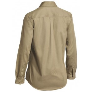 Bisley Women's Long Sleeve Drill Shirt