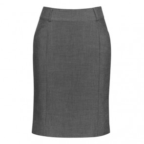 Biz Corporates Womens Panelled Skirt with Rear Split