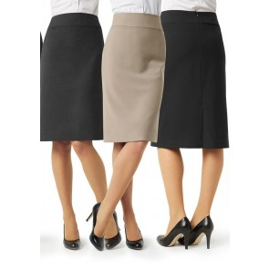 Biz Collection Ladies Classic Below Knee Skirt