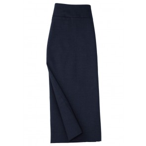Biz Collection Ladies Classic Below Knee Skirt - Navy