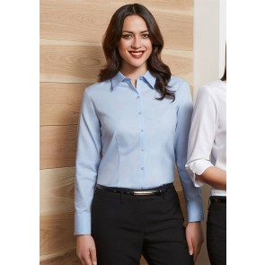 Biz Collection Ladies Luxe Long Sleeve Shirt - Model