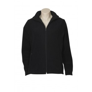 Biz Collection Ladies Plain Microfleece Jacket - Black