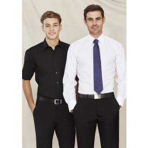 Biz Collection Mens Base Short  Sleeve Shirt - Models