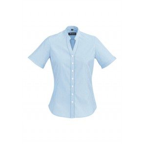 Biz Corporates Ladies Bordeaux Short Sleeve Shirt