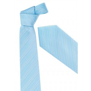 Biz Corporate Mens Self Stripe Tie - Alaskan Blue