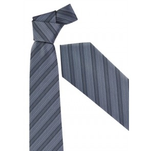 Biz Corporate Mens Self Stripe Tie