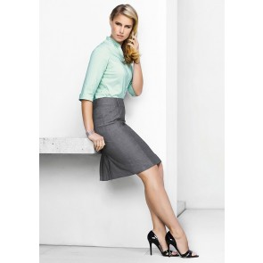 "Biz Corporates Ladies Feature Pleat Skirt ""Rococo"""