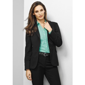 "Biz Corporates Ladies Longline Jacket 'Plain"" Model"