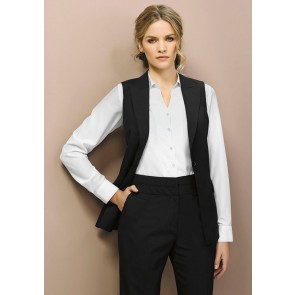 """Biz Corporates Ladies Mid Rise Piped Band Pant """"Wool Stretch"""" Model"""