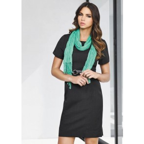 "Biz Corporates Ladies Short Sleeve Shift Dress ""Cool Stretch"" Model"