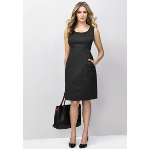 Biz Corporates Ladies Sleeveless Side Zip Dress - Model