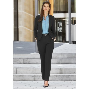 "Biz Corporates Ladies Tapered Leg Pant ""Rococo Knit"" Model"