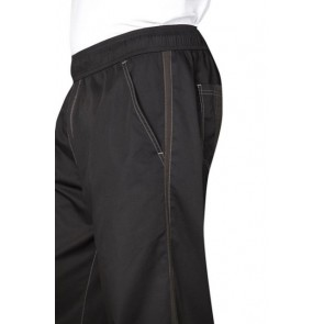 Chef Works Black Cool Vent Baggy Chef Pants