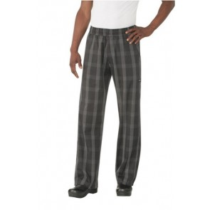 Chef Works Black Plaid Better Built Baggy Chef Pants