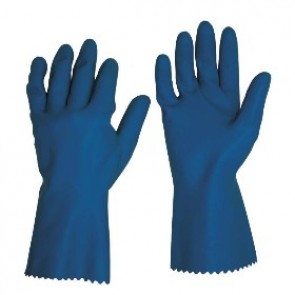 Blue Silver Lined Latex Glove 30cm