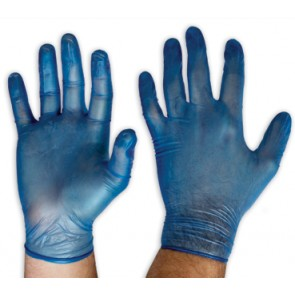 Pro Choice Blue Vinyl Gloves - Lightly Powdered