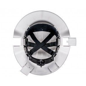 Tuffgard Broadbrim Non Vented Polycarbonate Miners Hard Hat Metal Bracket with Ratchet Harness Type 2