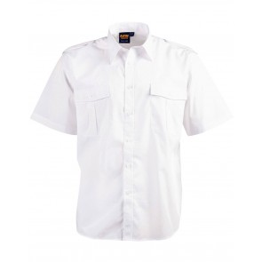 Benchmark Unisex Epaulette Short Sleeve Shirt