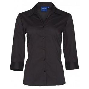 Benchmark Women's Teflon Executive 3/4 Sleeve Shirt