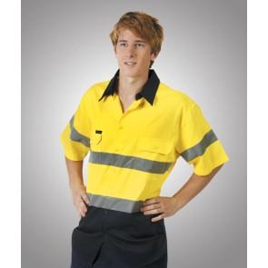 Budget HV DN Cotton Drill Short Sleeve Shirt