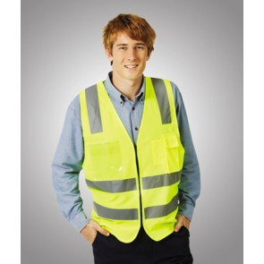 Hi Vis Budget Safety Day/Night Vest H Pattern Model