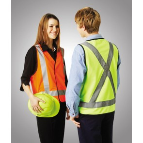 Budget Hi Vis Day Night Safety Vest H Pattern