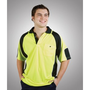 Budget HV CoolDry Side Panel Short Sleeve Polo Shirt - Model