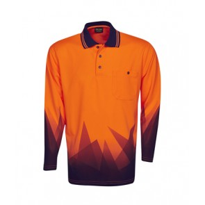 Budget HV Triangular Design Long Sleeve Polo