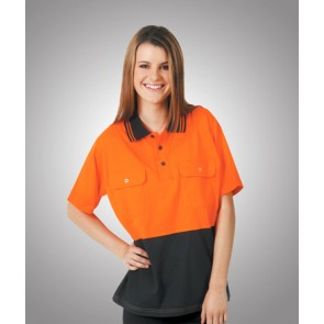 Budget Hi Vis 100% Cotton Polo S/Sleeve