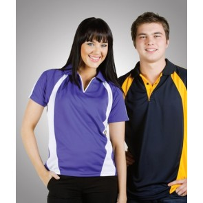 Budget Ladies Coolfast Mini Waffle Polo - Models