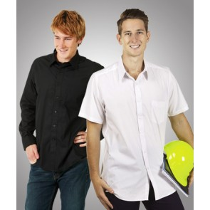 Blue Whale Men's Poplin Business Shirt Long Sleeve - Models