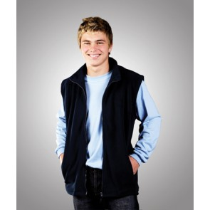 Blue Whale Polar Fleece Vest - Model