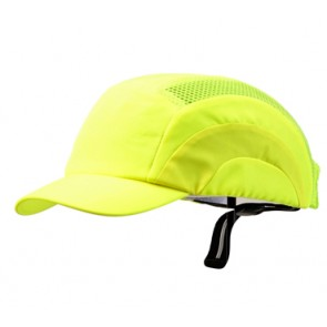 Bump Cap - Short Peak Fluoro Yellow