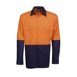 Budget HV LS 3 Way Cool Breeze Cotton Twill Shirt 155gsm