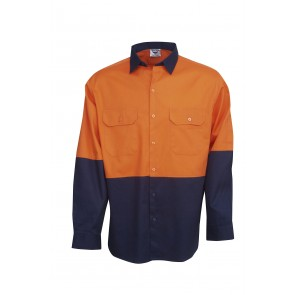 Blue Whale HV Cotton Drill Long Sleeve Shirt