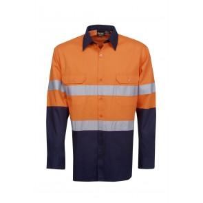 Budget HV DN LS 3 Way Cool Breeze Cotton Twill Shirt 155gsm